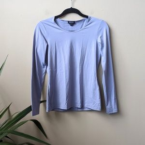 WORTH Periwinkle Long Sleeve Crew Neck Shirt sz S